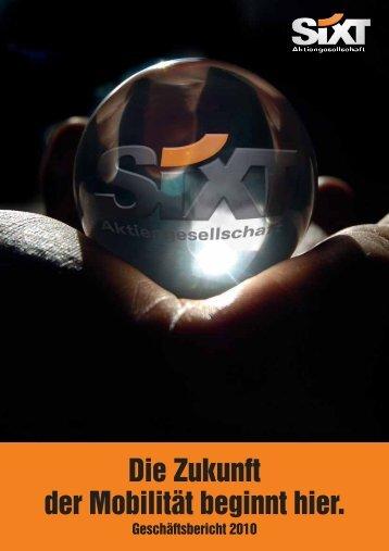 Geschäftsbericht 2010 - Sixt AG