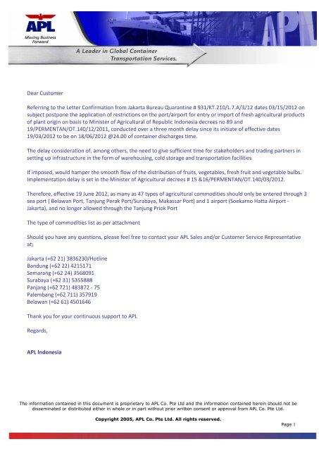 IMPORT DEMURRAGE DETENTION FREE     - APL Co  (Germany)