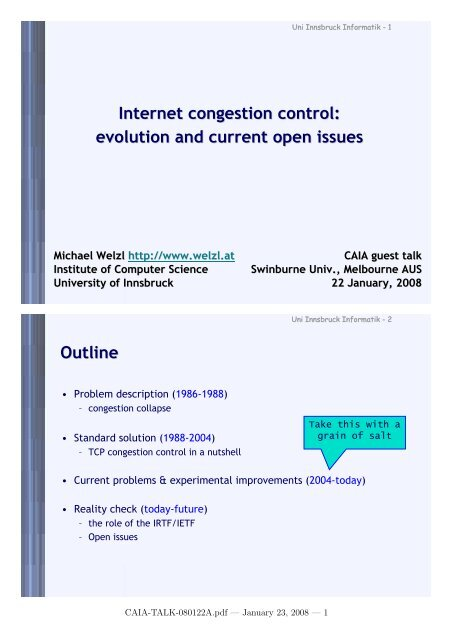 Internet congestion control: evolution and current open