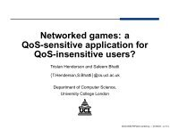 a QoS-sensitive application for QoS-insensitive users? - CAIA