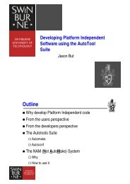Developing Platform Independent Software using the ... - CAIA