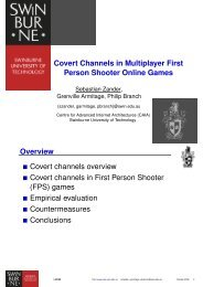 Covert Channels in Multiplayer First Person Shooter Online Games ...