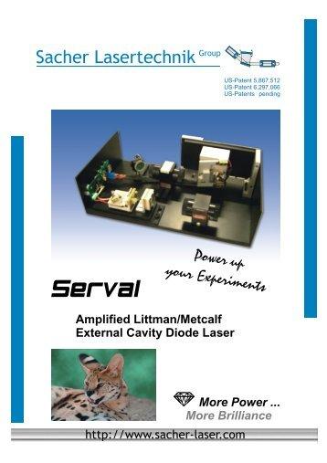 Amplified Littman/Metcalf External Cavity Diode Laser More Power ...
