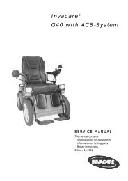 Invacare® G40 with ACS-System