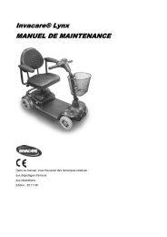 Invacare® Lynx MANUEL DE MAINTENANCE