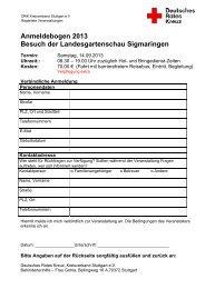 Drucken Sie sich das Anmeldeformular aus: hier - DRK Stuttgart