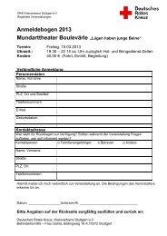 Anmeldebogen 2013 - DRK Stuttgart