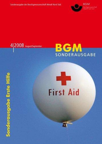 """BG Metall Information: """"Sonderausgabe Erste Hilfe"""" - DRK Stuttgart"""
