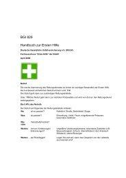BGI 829 Handbuch zur Ersten Hilfe - MARER 112 eV