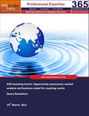 AVR Coaching Centre: Opportunity assessment ... - SME Toolkit India