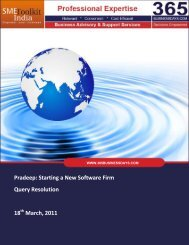Starting a New Software Firm Query Resolution ... - SME Toolkit India