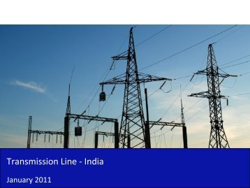 Transmission Line Market in India 2011 - Sample - SME Toolkit India