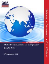 Indian Animation and Gaming Industry - SME Toolkit India