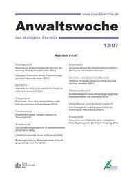 Anwaltswoche - Anwalt-Suchservice