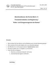 Klausur Bank I-II Lösungen WS05_06 - Lehrstuhl für Bankwirtschaft ...
