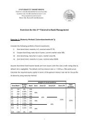 Exercises for the 2nd Tutorial in Bank Management - Lehrstuhl für ...