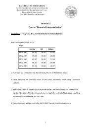 "Tutorial 3 Course ""Financial Intermediation"" - Lehrstuhl für ..."