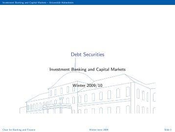 debt securities universität hohenheim