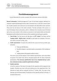 Finanzmärkte und Investment Banking - Universität Hohenheim