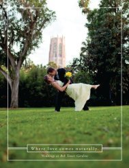 Wedding Guide & Packages - Bok Tower Gardens