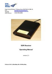 SDR Receiver Operating Manual - Cross Country Wireless