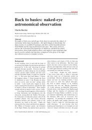 Back to basics: naked-eye astronomical observation