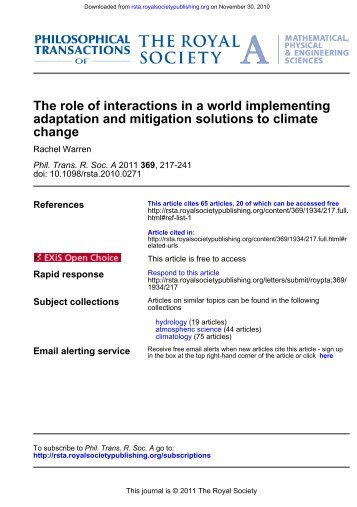 change adaptation and mitigation solutions to climate The ... - Amper