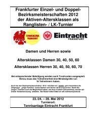 Frankfurter Einzel- und Doppel- Bezirksmeisterschaften 2012 der ...