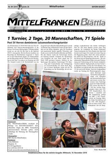 1 Turnier, 2 Tage, 20 Mannschaften, 71 Spiele - Bayerischer ...