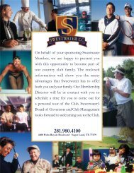 Sweetwater Membership Packet New 2012