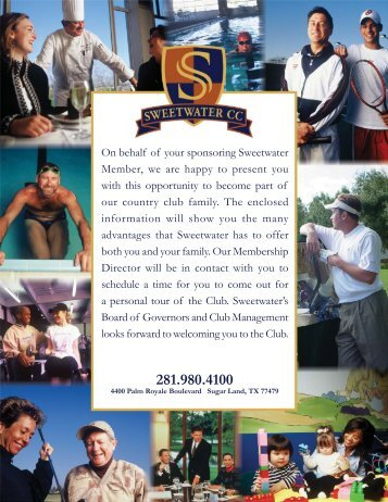 Sweetwater Membership Packet New 2012