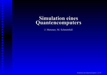 Simulation eines Quantencomputers - JavaPsi
