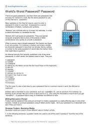 World's Worst Password? Password - Jeffnicholson.net
