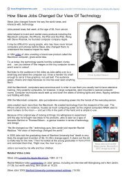 How Steve Jobs Changed Our View Of Technology - Jeff Nicholson
