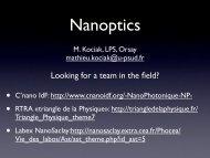 Near-field microscopy - Enseignement en Physique à l'ENS