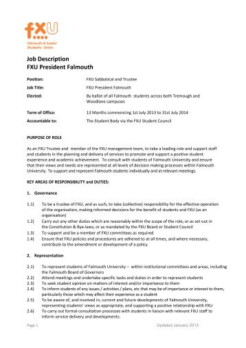 Job Description Fxu Vice President  Participation  BamshopCoUk
