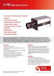 X-PRIhigh-speed camera - AOS Technologies AG