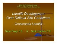 Landfill Development Over Difficult Site Conditions - Solid Waste ...
