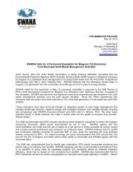SWANA Calls for a Permanent Exemption for Biogenic CO2 ...