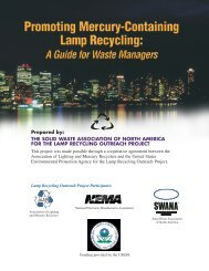 Promoting Mercury-Containing Lamp Recycling - Solid Waste ...