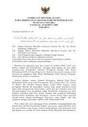sambutan menteri agama pada peringatan maulid nabi muhammad