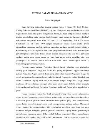 Voting Dalam Pengadilan Kita.pdf - Erman dan Hukum