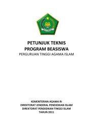 Petunjuk Teknis Beasiswa PTAI Tahun 2011 - Portal Kementerian ...
