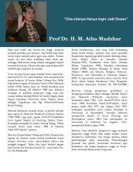 Prof Dr. H. M. Atho Mudzhar - Portal Kementerian Agama RI