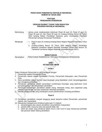 Penjelasan peraturan pemerintah no 23 tahun 2010