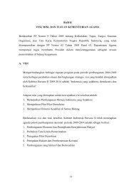 BAB II Visi, Misi, dan Tujuan Kementerian Agama