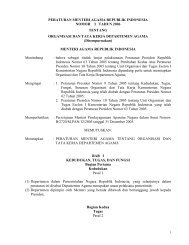 PMA Nomor 3 Tahun 2006 - Portal Kementerian Agama RI