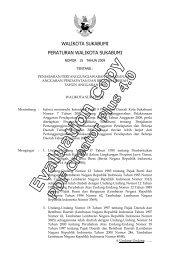walikota sukabumi peraturan walikota sukabumi - Pemerintah Kota ...