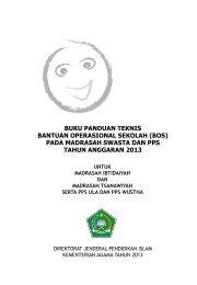 buku panduan teknis bantuan operasional ... - Kemenag Jabar