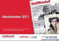 Mediadaten 2011 - Jobs - TextilWirtschaft